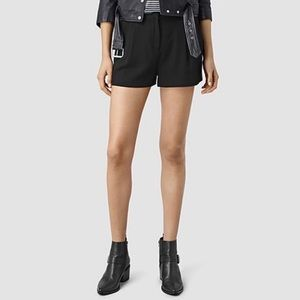 All Saints | Black Pleated Mini Tuxedo Short
